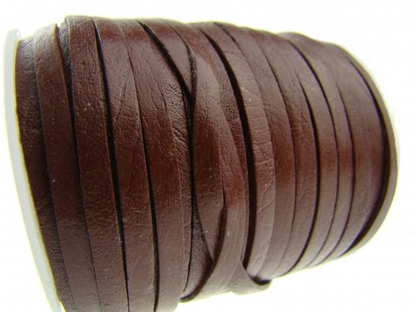 Lederband Flach 3 x 1 mm - Schokobraun