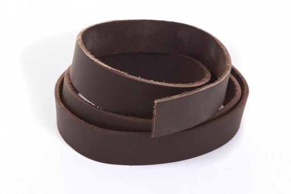 Lederband Flach. Länge: 1 m; Dicke: 2 mm - Braun