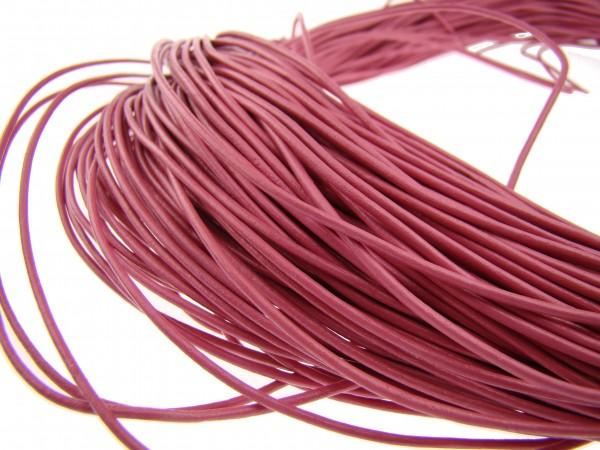 Lederschnur Rund 1,5 mm - Pink