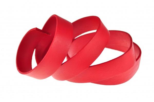 Lederband Flach. Länge: 1 m; Dicke: 2 mm - Rot