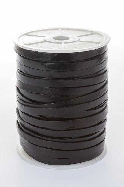 Lederband Flach 7 mm x 1,5 mm - Schwarz