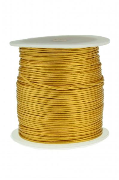 Lederschnur Rund 1 mm Gold