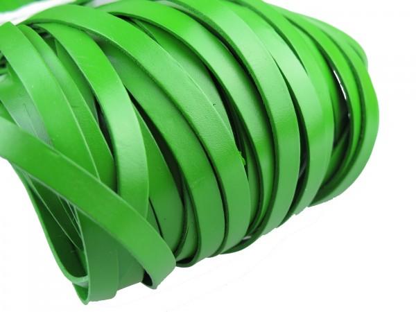 Lederband Flach 1 cm x 2 mm - Grün