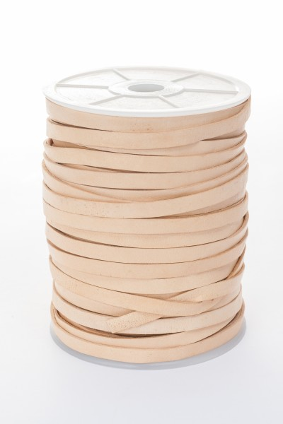 Lederband Flach 7 mm x 1,5 mm - Natur
