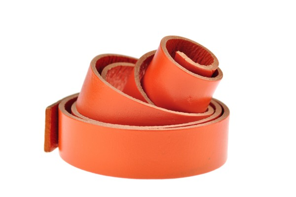 Lederband Flach. Länge: 1 m; Dicke: 2 mm - Orange