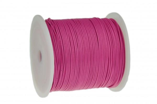 Lederschnur Rund 1 mm Pink