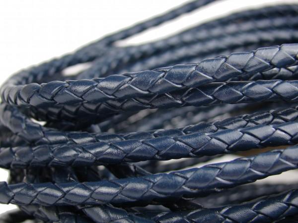 Lederschnur geflochten 5 mm - Blau