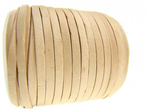 Lederband Flach 3 x 1 mm - Natur