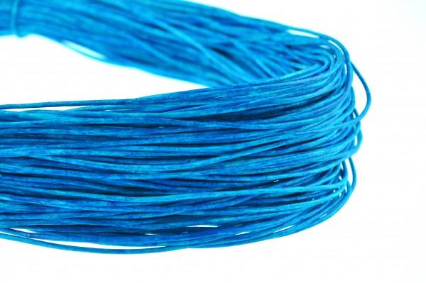 Lederschnur Rund 2 mm - Mesh Azur Blau