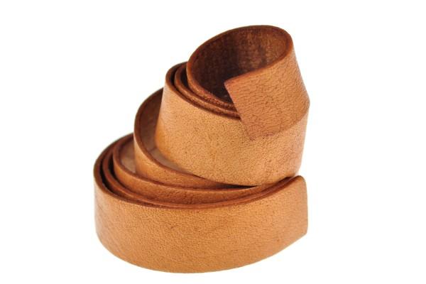 Lederband Flach. Länge: 1 m; Dicke: 2 mm - Walnuss
