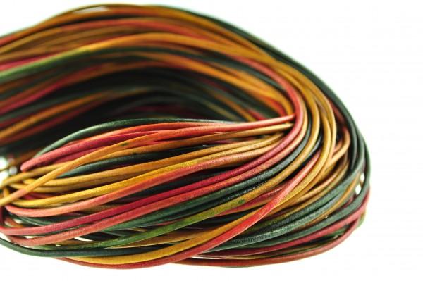 Lederschnur Rund 2 mm - Multicolor
