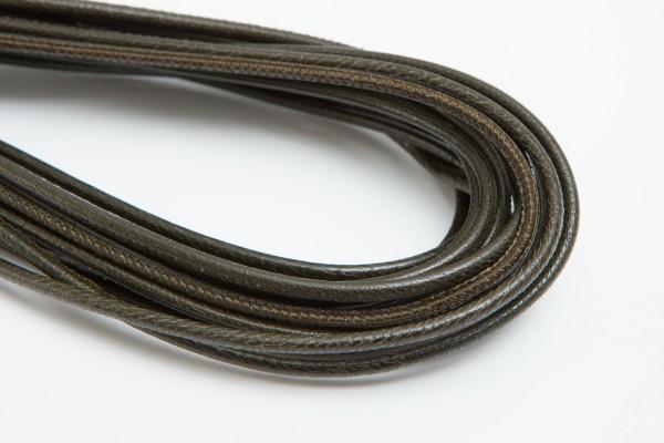 Lederschnur Rund gesäumt 2,5 mm - Olive