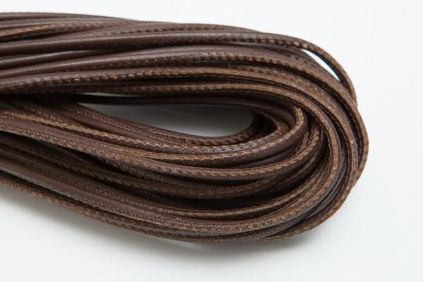 Lederschnur Rund gesäumt 2,5 mm - Schokobraun