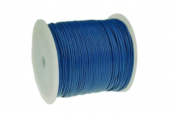 Lederschnur Rund 1 mm Blau