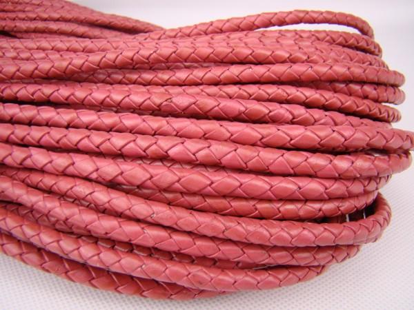 Lederschnur geflochten 5 mm - Pink