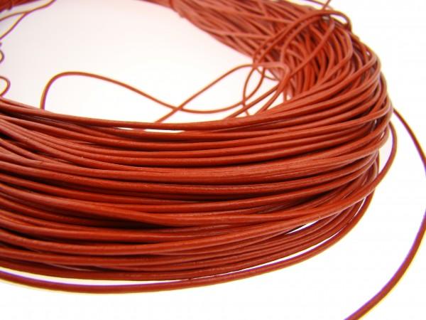 Lederschnur Rund 1,5 mm - Orange
