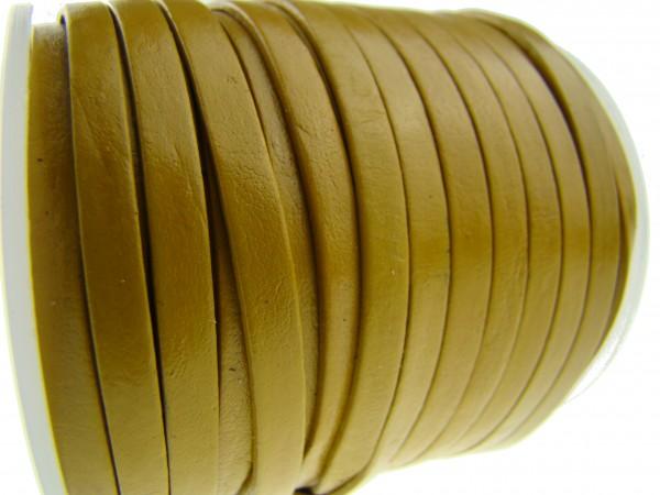Lederband Flach 4 x 1 mm - Curry