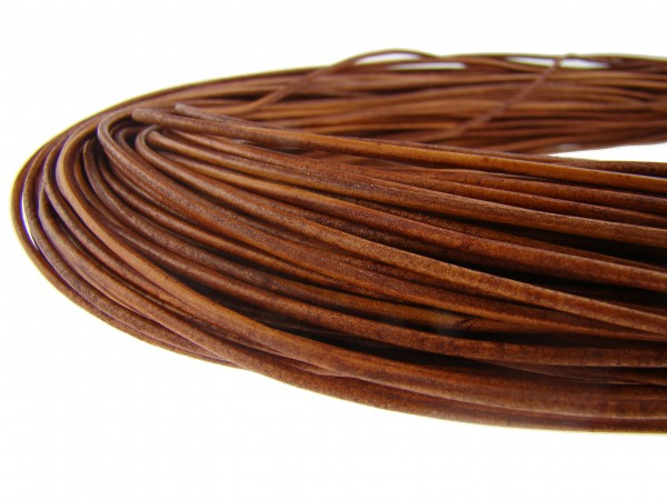 Lederschnur Rund 1,5 mm - Naturbraun