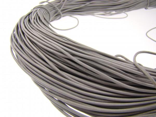 Lederschnur Rund 1,5 mm - Grau