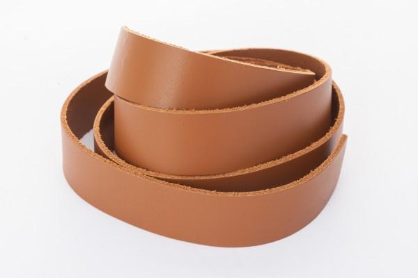 Lederband Flach. Länge: 1 m; Dicke: 2 mm - Hellbraun