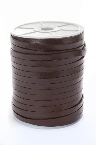 Lederband Flach 7 mm x 1,5 mm - Braun