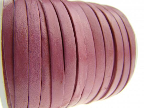 Lederband Flach 4 x 1 mm - Pink