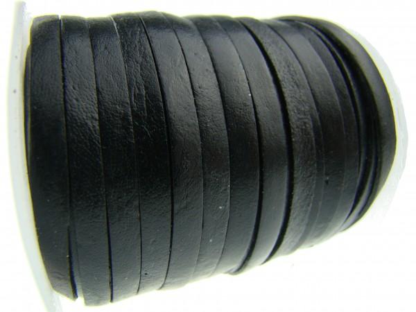 Lederband Flach 4 x 1 mm - Schwarz