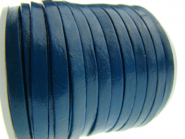 Lederband Flach 4 x 1 mm - Blau