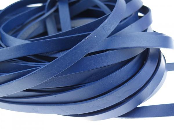 Lederband Flach 1 cm x 2 mm - Blau