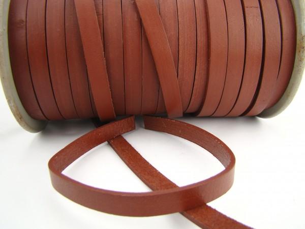 Lederband Flach 1 cm x 2,5 mm - Hellbraun