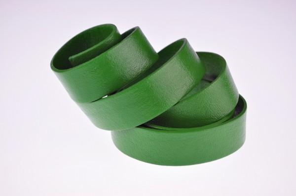 Lederband Flach. Länge: 1 m; Dicke: 2 mm - Grün