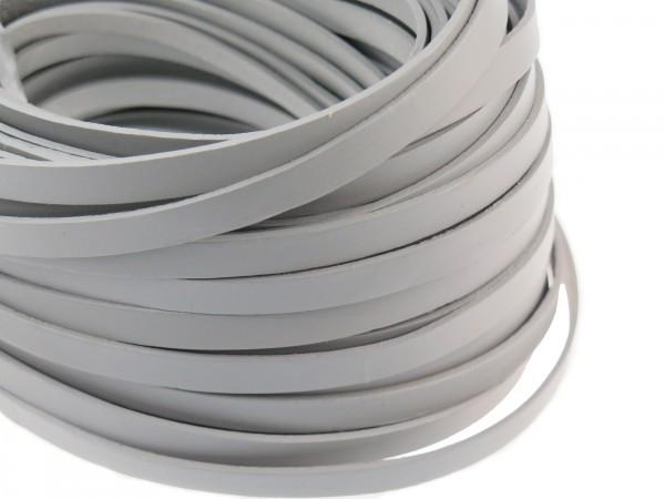 Lederband Flach 1 cm x 2 mm - Grau