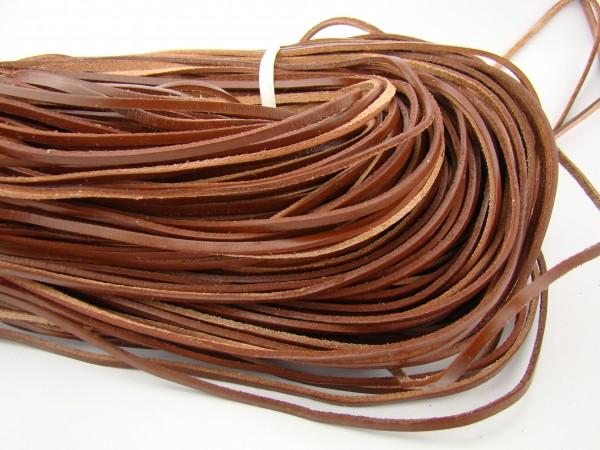 Lederband Flach Eckig 3 mm x 2 mm - Braun