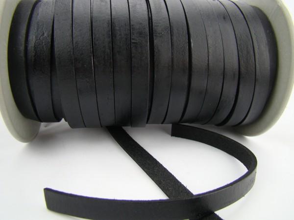 Lederband Flach 1 cm x 2,5 mm - Schwarz